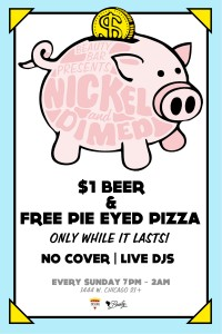 $1 Beer and Free Pizza at Nickel and Dimed