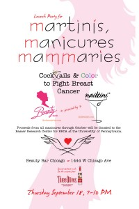 Martinis, Manicures, Mammaries : Cocktails & Color to Fight Breast Cancer