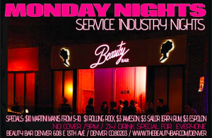 S.I.N. Night (Service Industry Night) $1 Rolling Rock $3 Jameson, Espolon & Sailor Jerry