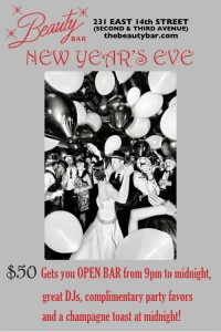NEW YEAR'S EVE AT BEAUTY BAR!