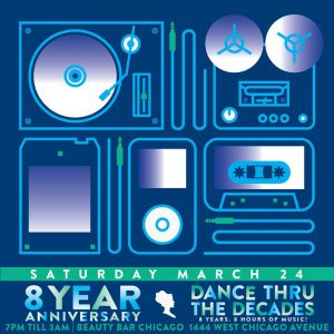 Beauty Bar's 8 Year Anniversary - Dance Thru The Decades!